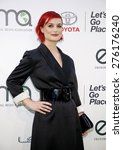 Small photo of Alison Sudol at the 2014 Environmental Media Awards held at the Warner Bros. Studios Lot in Los Angeles on October 18, 2014 in Los Angeles, California.