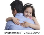 girl embracing father over... | Shutterstock . vector #276182090