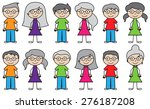 vector collection of diverse... | Shutterstock .eps vector #276187208