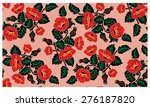 image floral pattern. poppies... | Shutterstock . vector #276187820