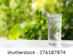 A Glass Of Water With Ice On...