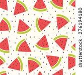 cute vector seamless pattern... | Shutterstock .eps vector #276194180