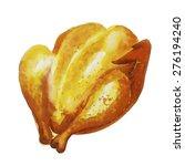 appetizing baked chicken | Shutterstock .eps vector #276194240