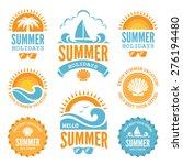 set of  summer holidays labels... | Shutterstock .eps vector #276194480