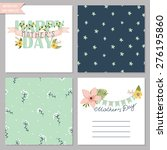 card collection with floral... | Shutterstock .eps vector #276195860