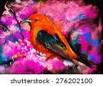 original pastel painting on... | Shutterstock . vector #276202100