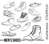 vector set of men's shoes... | Shutterstock .eps vector #276209114