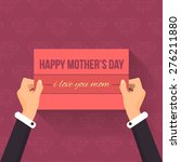 happy mother's day lettering ... | Shutterstock .eps vector #276211880