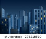 cityscape at night vector... | Shutterstock .eps vector #276218510