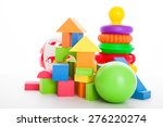 various colorful kid's toys... | Shutterstock . vector #276220274