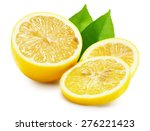 juicy lemons isolated on the... | Shutterstock . vector #276221423