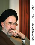 Small photo of ISTANBUL, TURKEY - NOVEMBER 12: Iranian reformist politician and Shia theologian Mohammad Khatami on November 12, 2006, Istanbul, Turkey. He served as the fifth President of Iran from 1997 to 2005.