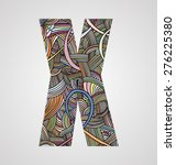 "letter ""x"" from doodle alphabet   Shutterstock .eps vector #276225380"