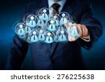 torso of a manager in blue... | Shutterstock . vector #276225638