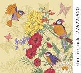 vintage floral greeting card... | Shutterstock .eps vector #276225950