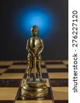 some chess metallic pieces on... | Shutterstock . vector #276227120