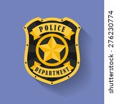 icon of police  sheriff badge | Shutterstock .eps vector #276230774