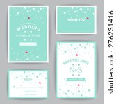 set of wedding invitations and... | Shutterstock .eps vector #276231416