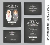 set of wedding invitations and... | Shutterstock .eps vector #276231473