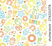 seamless summer pattern... | Shutterstock .eps vector #276231578