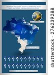 geometric polygonal design... | Shutterstock .eps vector #276239288