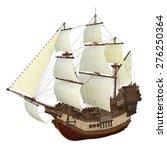 sailing boat  | Shutterstock . vector #276250364
