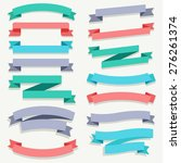 ribbon big set   vector... | Shutterstock .eps vector #276261374
