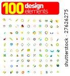 100 design elements       Shutterstock .eps vector #27626275