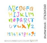 alphabet    handwritten... | Shutterstock .eps vector #276264260