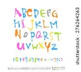 alphabet    handwritten... | Shutterstock .eps vector #276264263