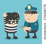 police catch thief | Shutterstock .eps vector #276268778