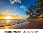 landscape of paradise tropical... | Shutterstock . vector #276271724