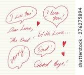handwritten love messages | Shutterstock .eps vector #276275894