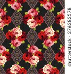 rose pattern  | Shutterstock .eps vector #276282578