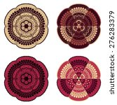 4 vector doodle floral design... | Shutterstock .eps vector #276283379