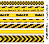 yellow with black police line ... | Shutterstock .eps vector #276286016