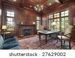 office with wood paneling and... | Shutterstock . vector #27629002
