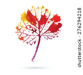 watercolor natural leaf made in ... | Shutterstock .eps vector #276294218