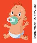 illustration of  cute little... | Shutterstock .eps vector #276297380