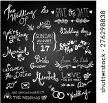 vintage wedding border on... | Shutterstock .eps vector #276298838