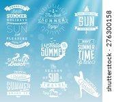 summer beach vector calligraphy ... | Shutterstock .eps vector #276300158