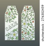 vector floral tags for... | Shutterstock .eps vector #276302459
