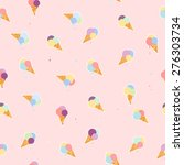 lovely ice cream cones seamless ... | Shutterstock .eps vector #276303734