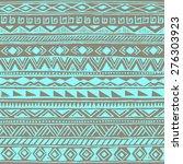 retro color tribal navajo... | Shutterstock .eps vector #276303923