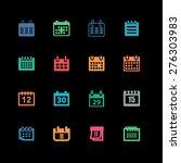 calendar icons | Shutterstock .eps vector #276303983
