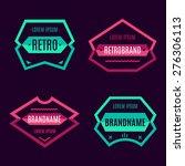 vintage geometric logo set ... | Shutterstock .eps vector #276306113