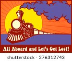 all aboard and let's get lost ... | Shutterstock .eps vector #276312743