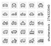 car and vehicle vector icon set. | Shutterstock .eps vector #276322040