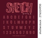 font sketch alphabet  vector... | Shutterstock .eps vector #276324950