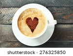 Cup Of Cappuccino With Heart O...
